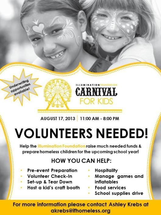 illumination foundation carnival volunteers