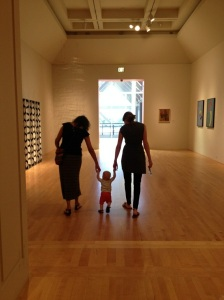 Paid our first (free!) visit to LACMA with mommy's college friends, Dana and Ana
